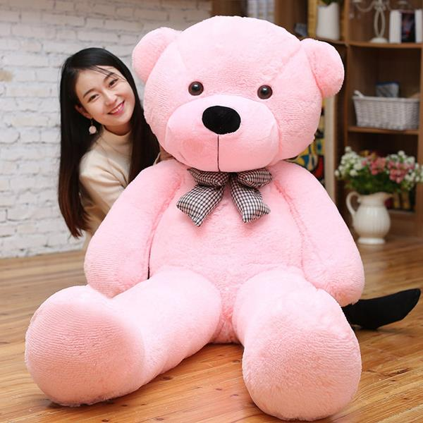 CUTE GIANT PINK TEDDY BEAR Huge Stuffed Animal Soft Toy Valentines Day Gift 47
