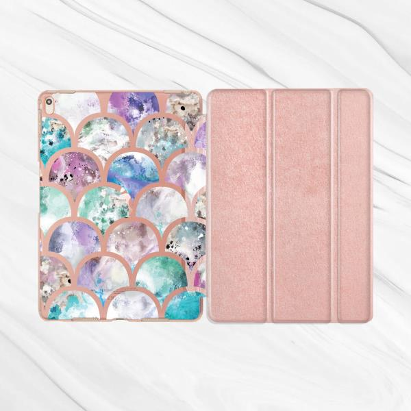 7e4bf9ab289b Details about Mermaid Scales Rose Gold Smart Cover Case For iPad Pro 9.7  10.5 12.9 Air Mini 3