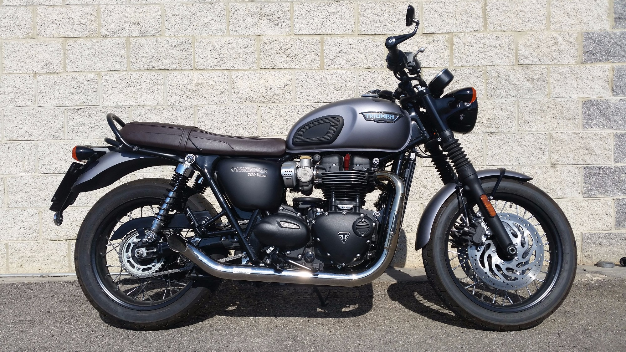 Triumph Bonneville T120 Massmoto Exhaust Full System 2in2 Hot Rod