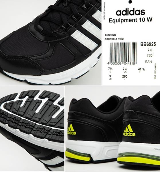 new product 01504 e222d Details about Adidas Men Equipment 10 Formotion Shoes Running Black White  Sneakers Shoe BB6925
