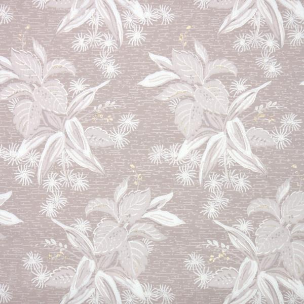 Details About 1950s Botanical Vintage Wallpaper White Leafy Clusters On Brown