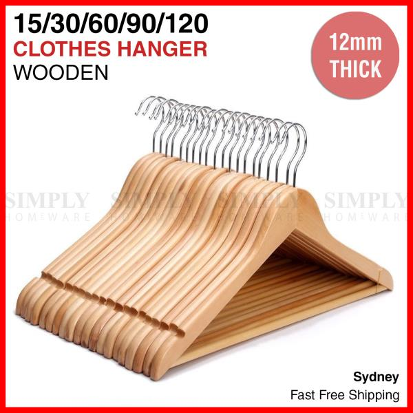 Lot Of 120 Wooden Clothes or Coat Hangers Free Shipping