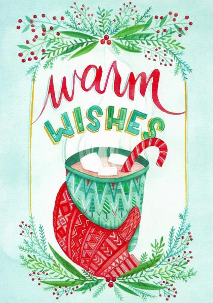 Hot Cocoa Design Warm Wishes Christmas Cards By Rsvp 5 Ebay