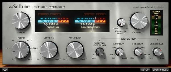 Details about New Softube FET Compressor Plug-In Software Native DSP Mac PC  VST AU RTAS AAX