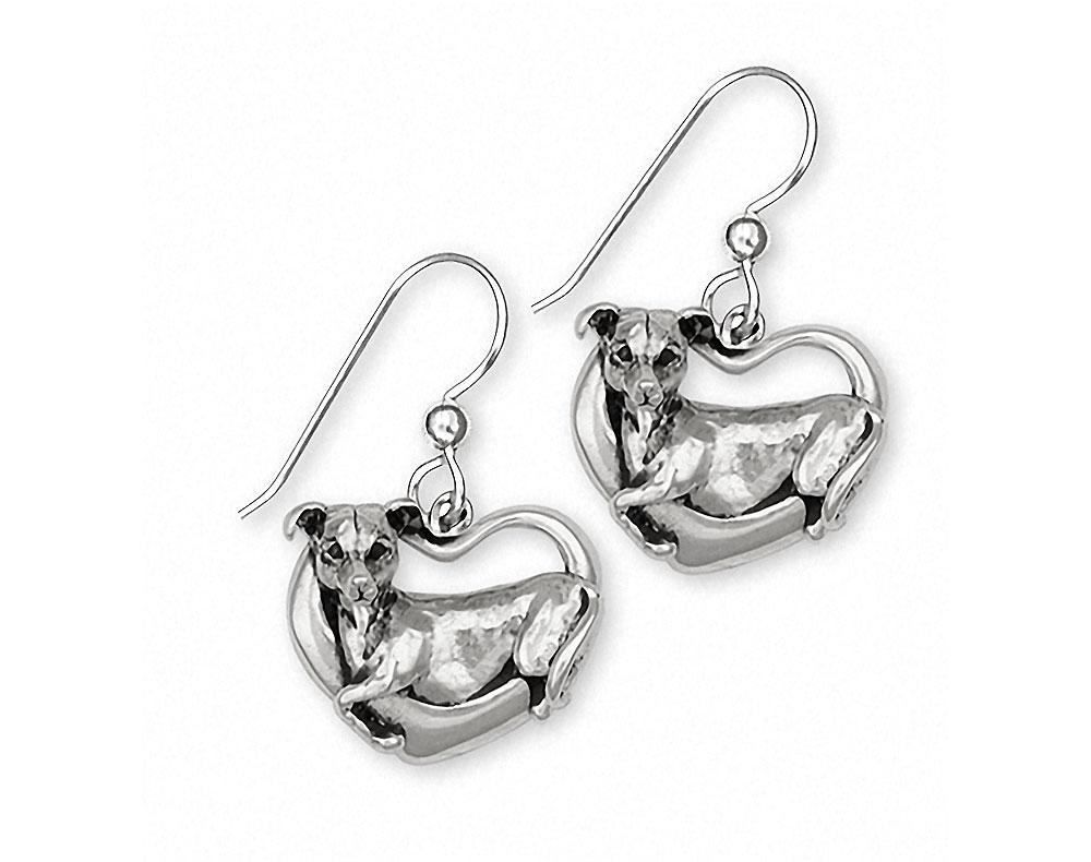 New Greyhound Sterling Silver Earrings FREE SHIPPING
