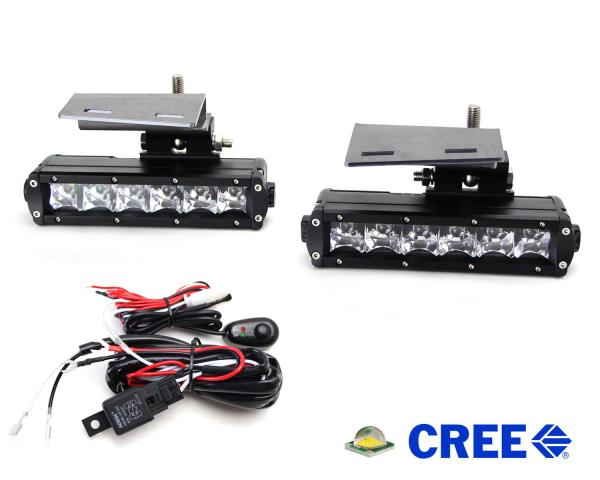 Led light bar w foglamp location bracket wiring for chevy 1500 2500 led light bars give your chevy trucksuv a rugged off road look both day and night with superior lighting performance aloadofball Images