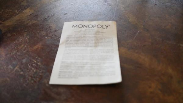 1973 Monopoly Instructions Version Game Part Replacement Booklet