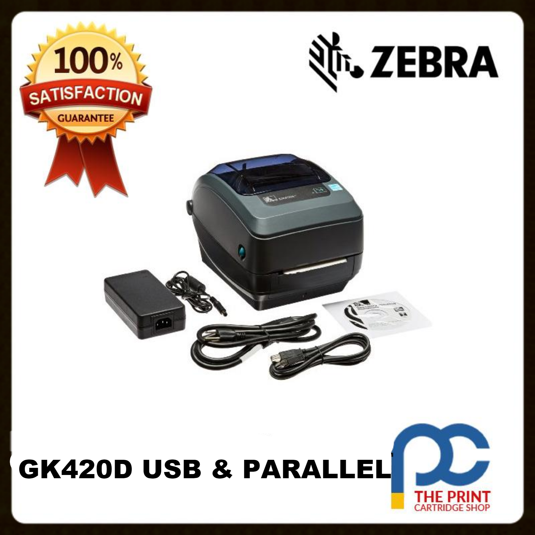 Zebra GK420D 203DPI Direct Thermal Receipt  Printer USB /& Ethernet Interface