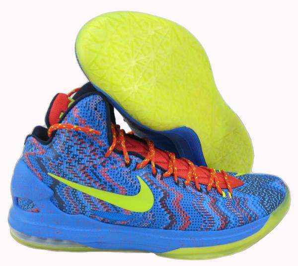6dcdebd91d52 Nike Zoom KD V 5 Christmas Basketball SZ 14 554988-401 KEVIN DURANT ...
