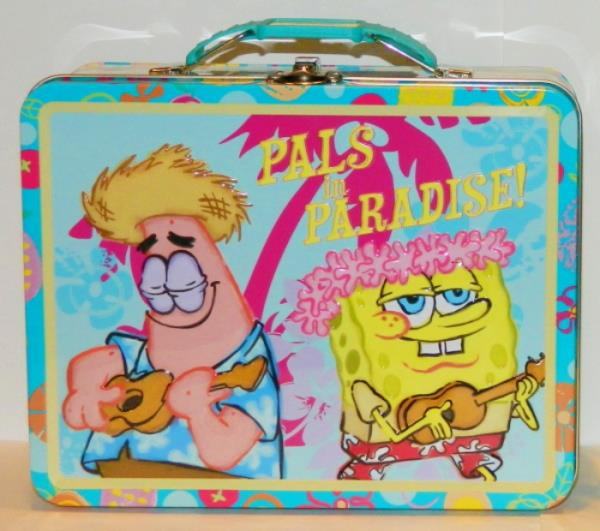 SpongeBob SquarePants Large Carry All Tin Tote Lunchbox Style B NEW UNUSED