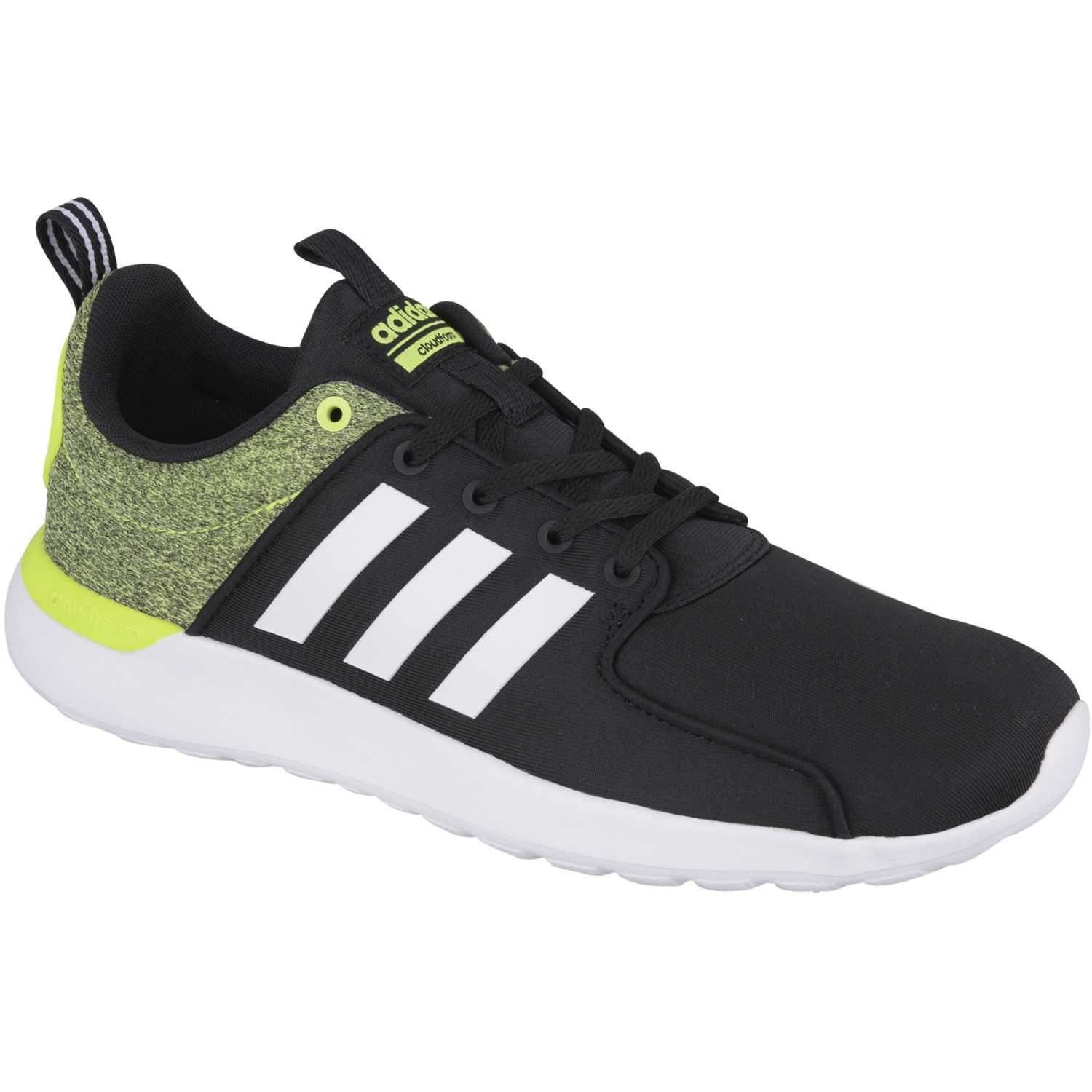 timeless design 06aee c8239 Details about Adidas Mens Cloudfoam Lite Racer - Size 11 Black  Solar  Yellow Running Shoes