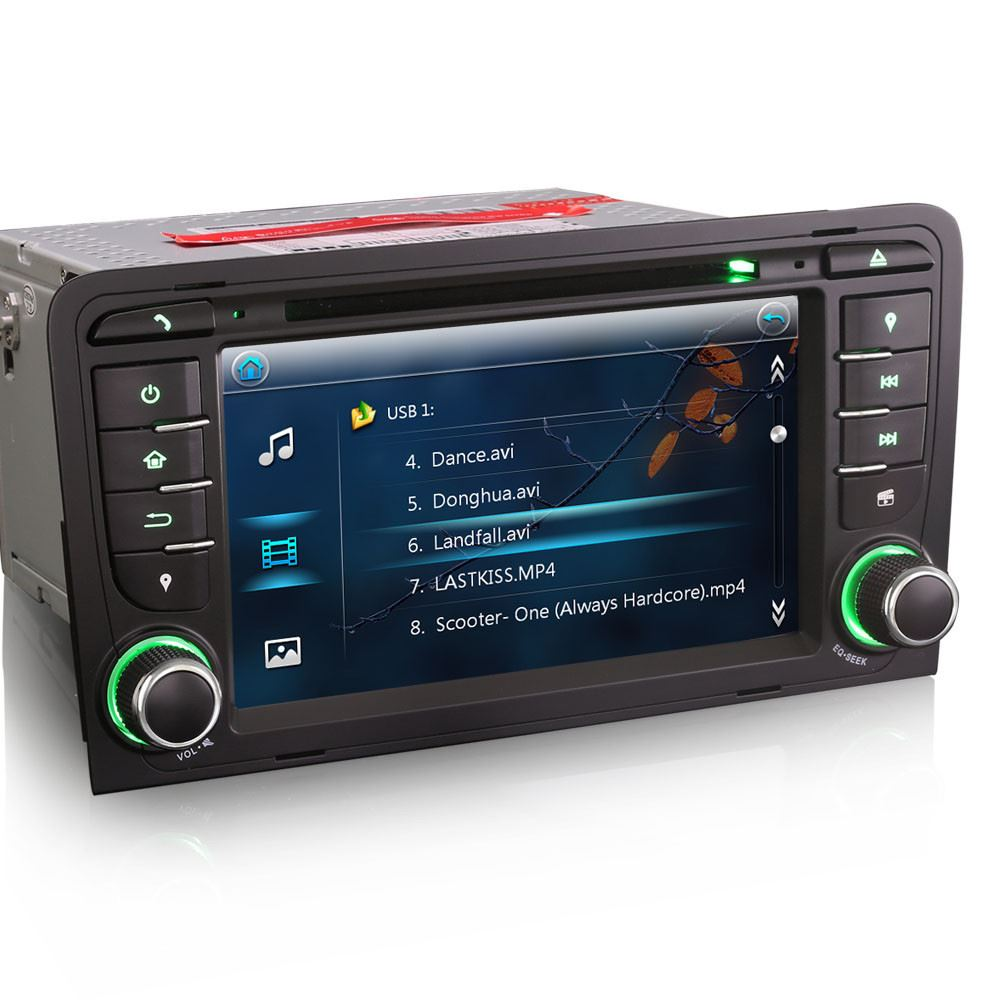 7 radio stereo dvd player gps sat nav bluetooth for audi. Black Bedroom Furniture Sets. Home Design Ideas