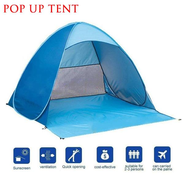 Outdoor Folding Sun Shelter Anti UV Instant Pop Up Automatic Tent ...