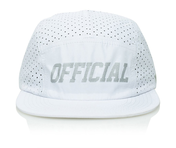 Official Cap Aero White 5 Panel Perforated Strapback Skateboard Hat OSFM Camper FREE POST New