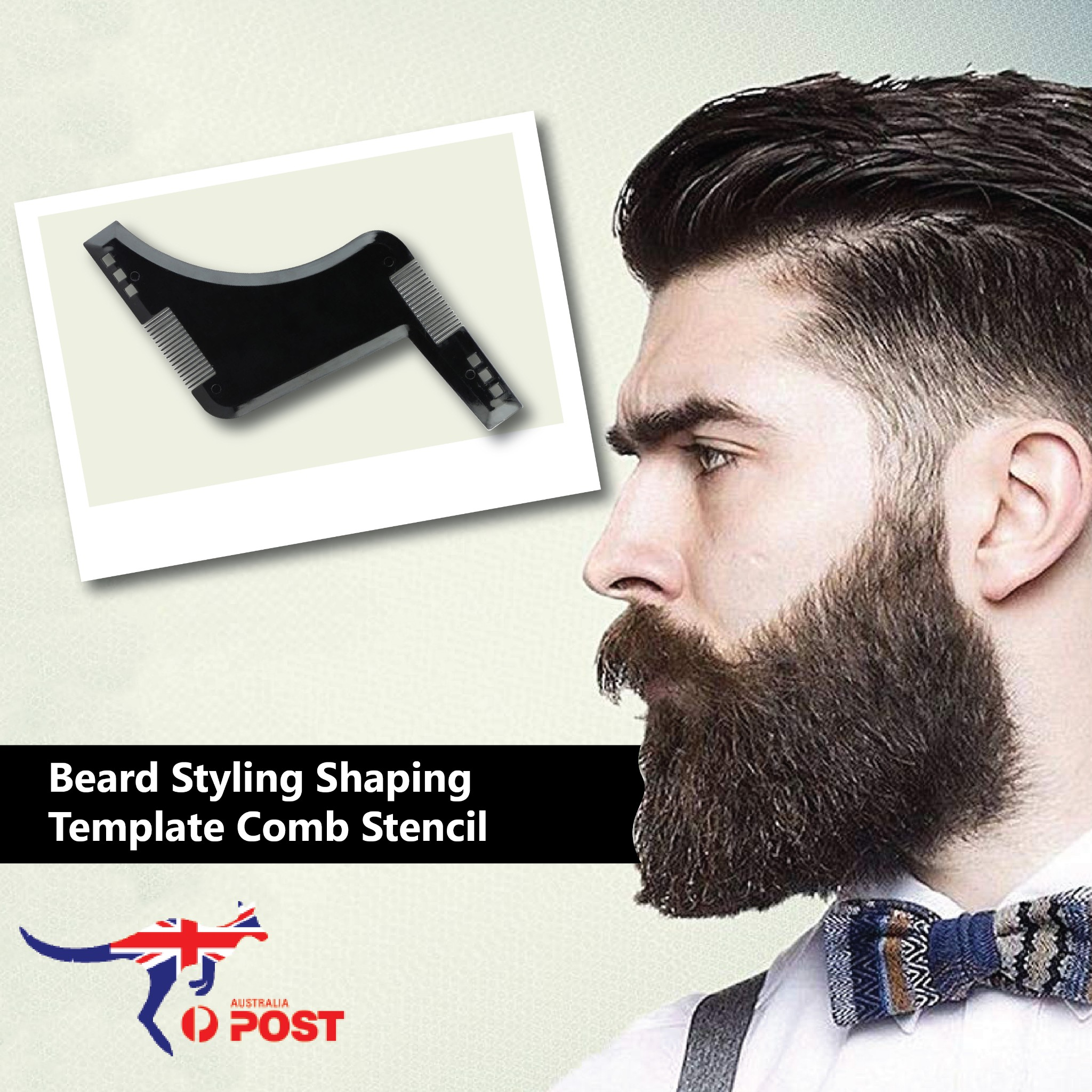 Wondrous Beard Styling Shaping Template Comb Tool Symmetry Trimming Shaper Natural Hairstyles Runnerswayorg