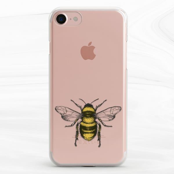 premium selection 4402e 84841 Details about Vintage Yellow Bee Insect Soft Case Cover For iPhone 6s 7 8  Plus Xs Max XR