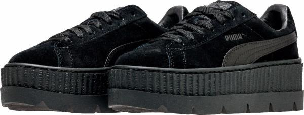 366268-04  Womens PUMA Cleated Creeper Black Suede Fenty Rihanna Sneaker 2ce78bbdd