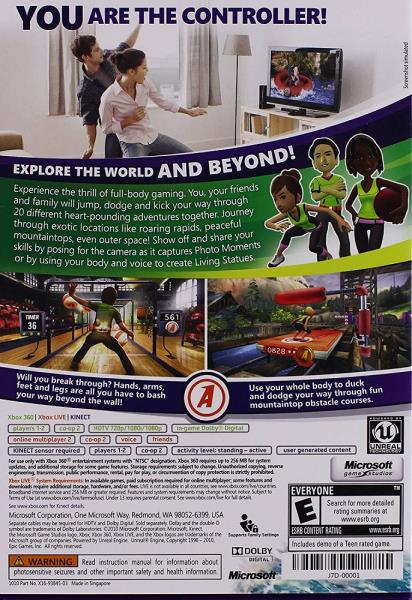 Details about Xbox 360 Kinect Sport Game - Kinect Adventures for Microsoft  Xbox 360 System