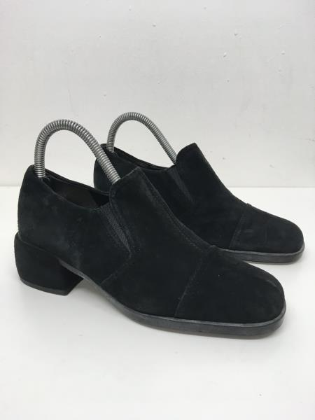 0457fc9a Details about WOMENS ECCO BLACK SUEDE SLIP ON BLOCK HEEL SMART WORK OFFICE  SHOES UK 5 EU 38