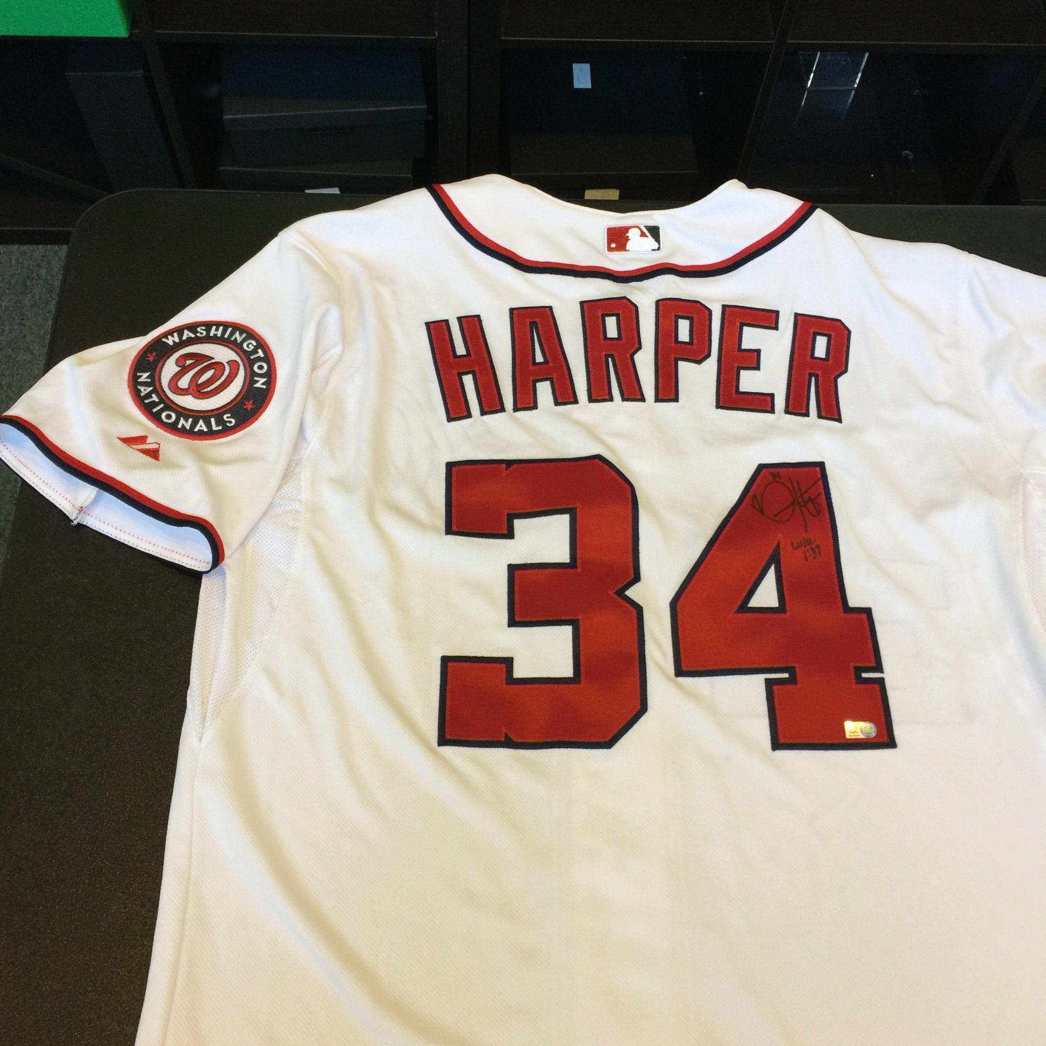 5ba75a712 Bryce Harper Signed Washington Nationals Game Model Jersey MLB AUTHENTICATED