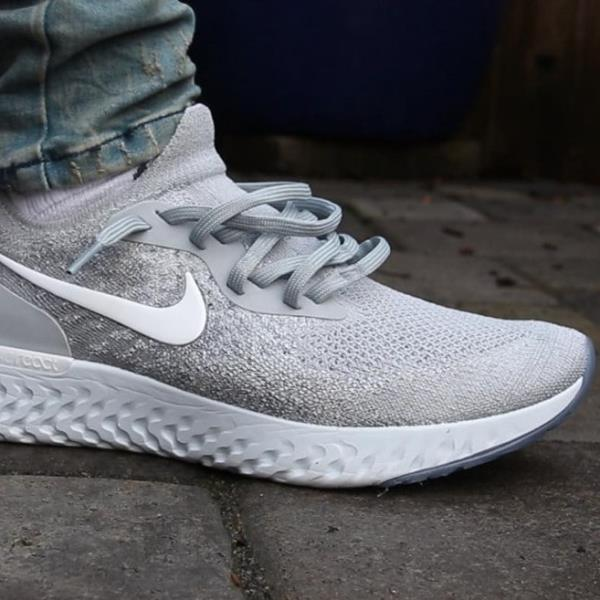 331354fe53131 Nike Epic React Flyknit Sneakers Wolf Grey Size 7 8 9 10 11 12 Mens Shoes  New