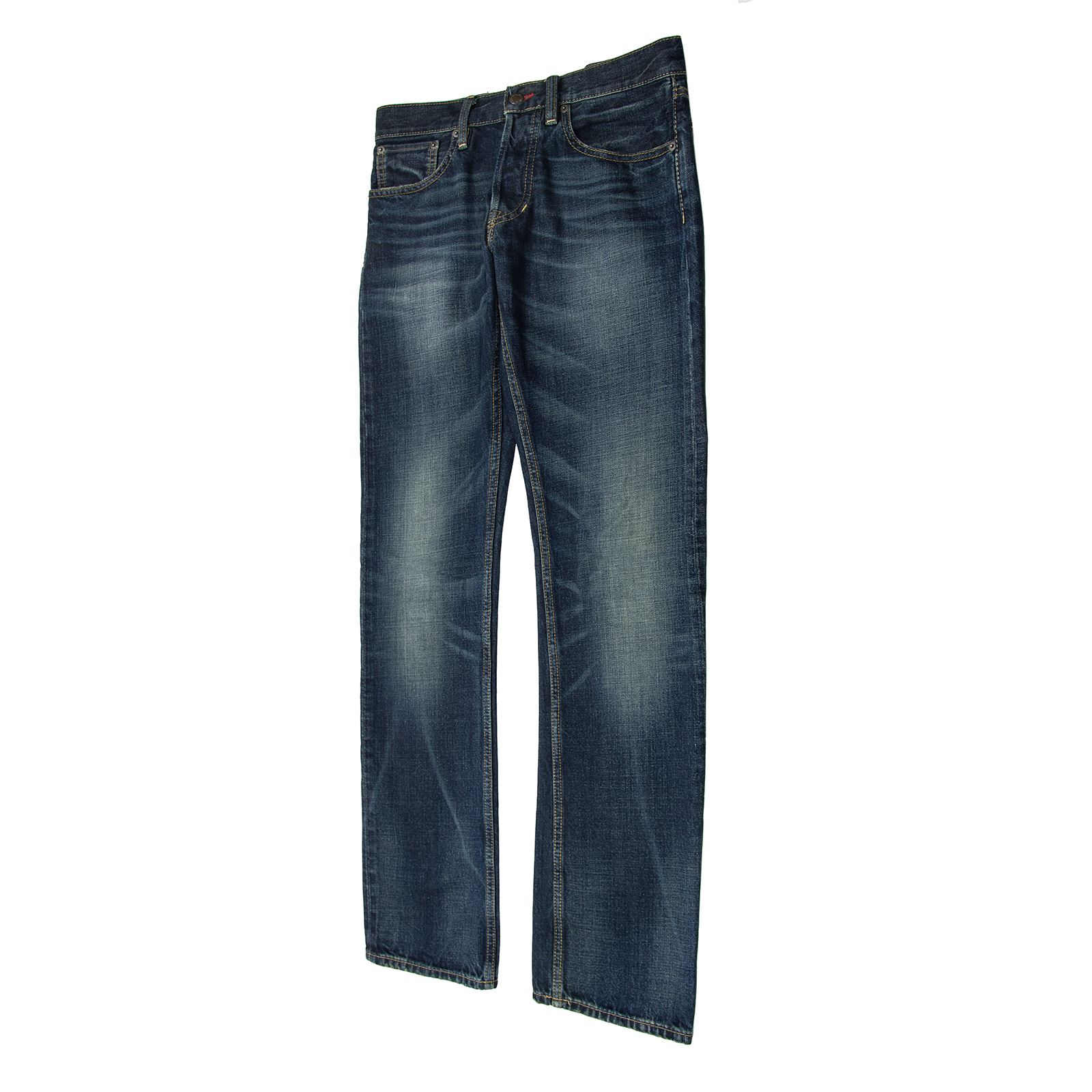 verschiedenes Design hohe Qualitätsgarantie große Sammlung Details about Ralph Lauren Black Label Blue Denim Washed Straight Leg  Button Fly Jeans 32W