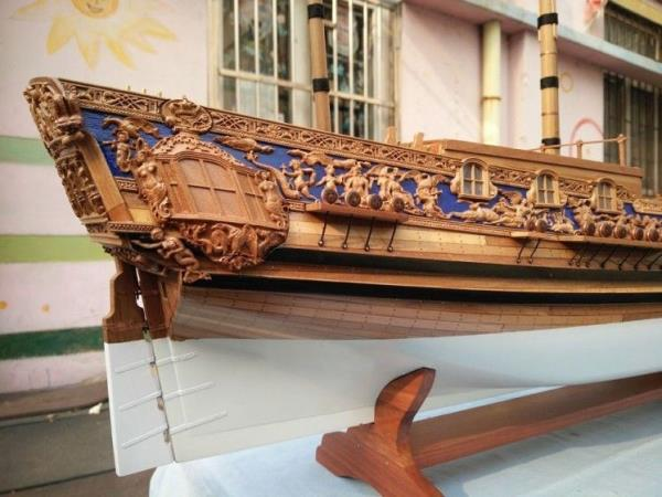 Details About Hmy Royal Caroline 1749 Scale 1 50 33 Pear Wood Carving Pieces Wood Ship Kit