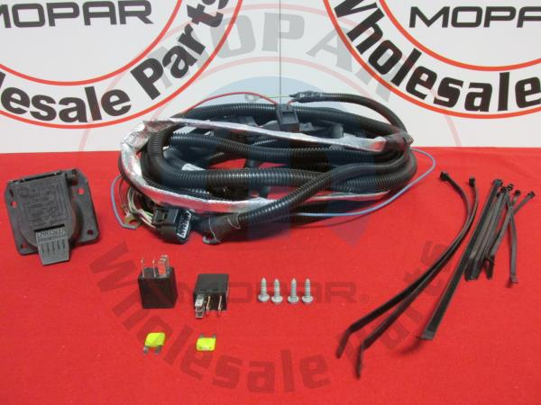 Details about Jeep Grand Cherokee 7 PIN Trailer Wiring Harness Mopar on