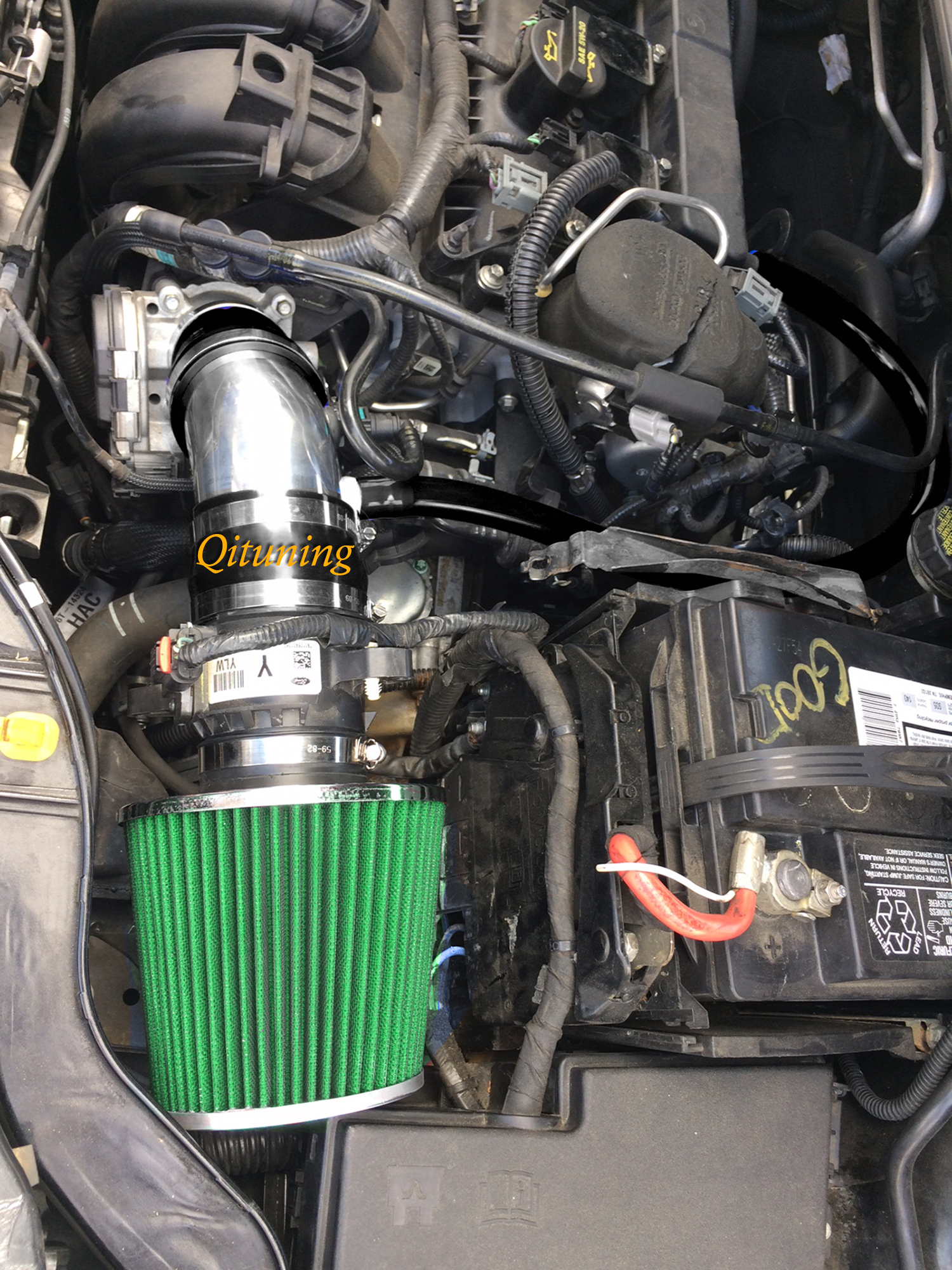 BLACK AIR INTAKE KIT FIT 2015-2018 FORD FOCUS 2.0 2.0L NON-TURBO ENGINE