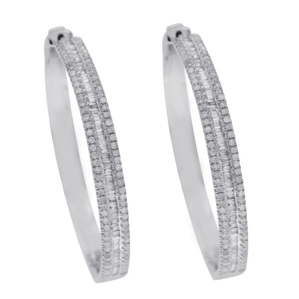 Luxo Jewelry News Letter - Premium Jewelry - ▌18K White Gold 1.07CT Baguette & Round Diamonds 1.35