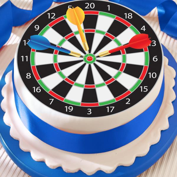 Dartboard Great For Birthday Or Darts Party 75 Inch Precut Edible