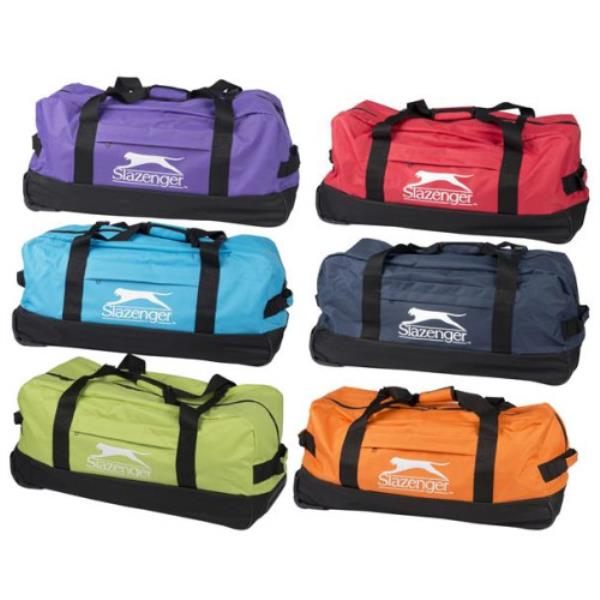 0bcd5004d5 Details about SLAZENGER LARGE WHEELED SPORTS GYM TRAVEL OVERNIGHT TROLLEY  HOLDALL BAG