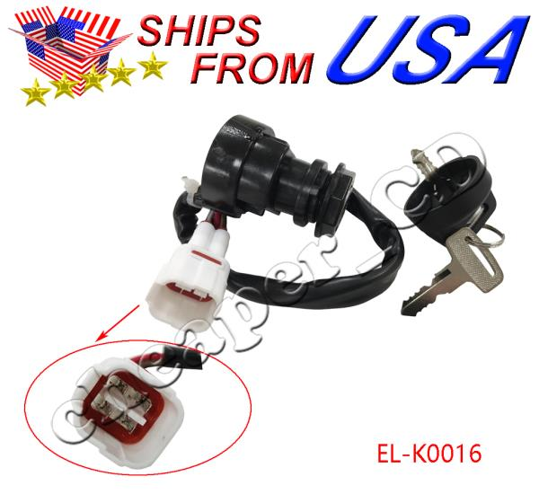 Ignition Key Switch FOR 1999 Yamaha bear tracker 250 YFM250 ATV