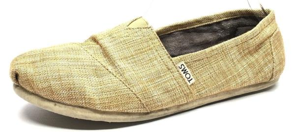 Women S Shoes Toms Ballet Loafers Slip On Flats Gold Canvas 380514 Size W8
