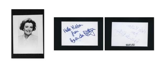 Pride And Prejudice Signed Autograph And Headshot Photo Set Brenda Blethyn