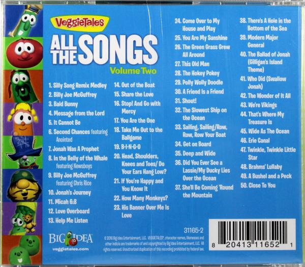 Veggietales All The Songs Volume Two Brand New 2 Disc Cd