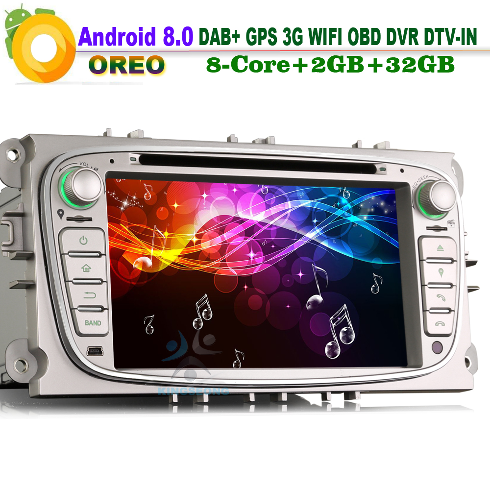 android 8 dab autoradio navi f r ford mondeo focus mit cd. Black Bedroom Furniture Sets. Home Design Ideas