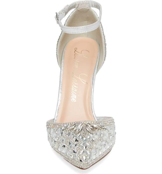 f709578f646 Lauren Lorraine Rose Silver Crystal Embellished d Orsay Pointed Toe ...