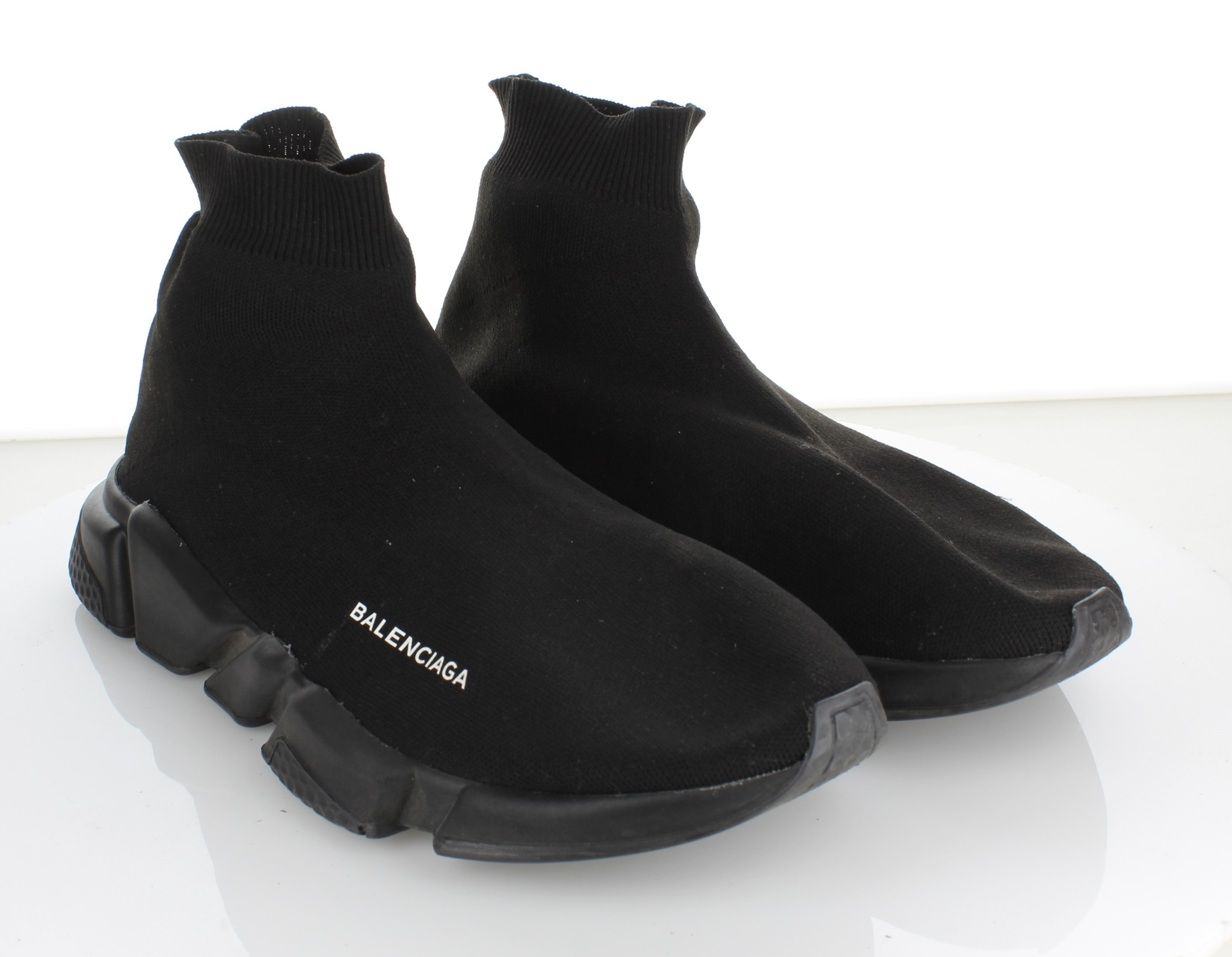56c0017b19bb 4233 Balenciaga Speed Black Textile Mid Sock Sneaker Men's Sz 44 M ...