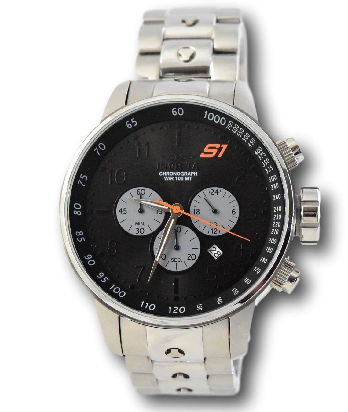 2cb3fae55 Details about Invicta S1 Rally 23084 GPX Black Dial Quartz Stainless Chronograph  Watch