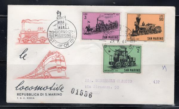 Details about 1964 SAN MARINO EUROPE STAMPS COVER FIRST DAY FDC LOT 97