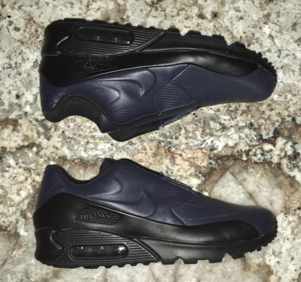 Details about NIKE LAB X Sacai Air MaX 90 Navy Blue Slip On Running Training Shoe NEW Womens 7