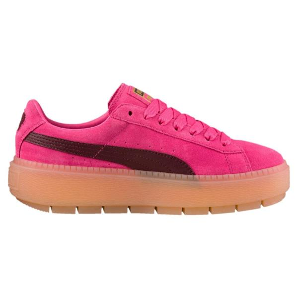 367057-02  Womens PUMA Platform Trace Block Sneakers - Pink. Style  367057- 02 27181381a