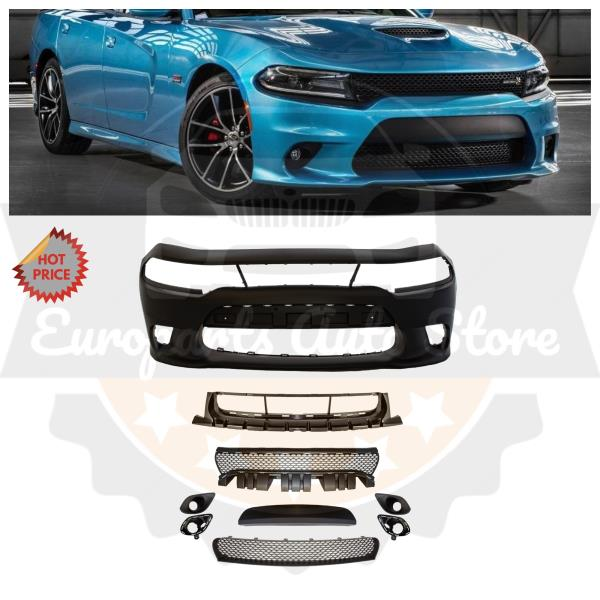 Duraflex Replacement for 2015-2019 Dodge Charger Hellcat Look Rear Bumper 1 Piece