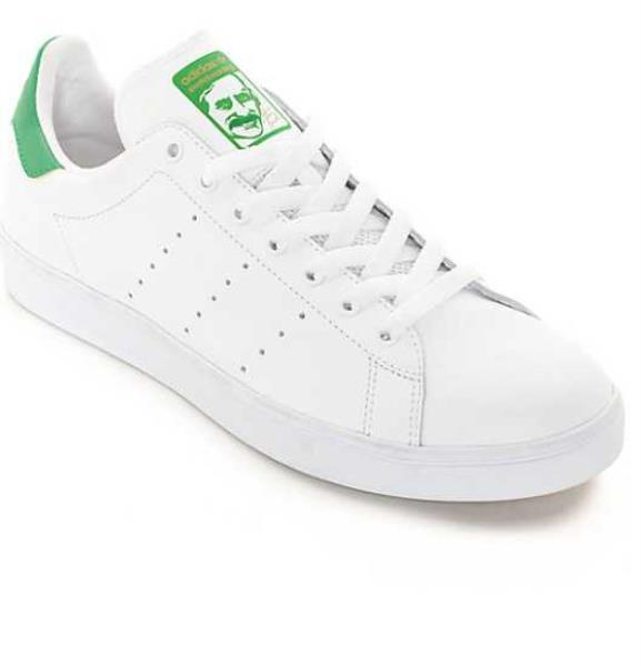 huge discount 0d096 938bd Details about NEW MEN'S US 4 6.5 9 12 ADIDAS STAN SMITH VULC WHITE GREEN  SKATE SHOES B49618