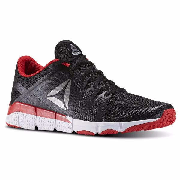 5dd169d9f3bc  BD4912  Mens Reebok Trainflex Cross Training Sneaker - Black White Red