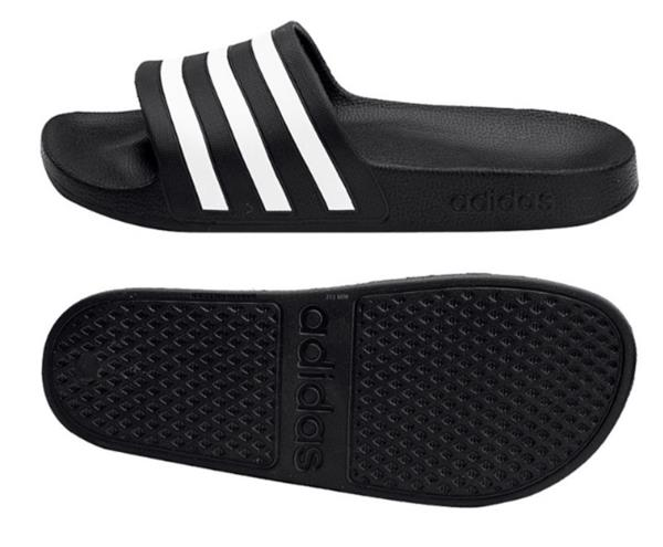 Adidas F35550 Men Adilette slippers Aqua Swim sandals black white