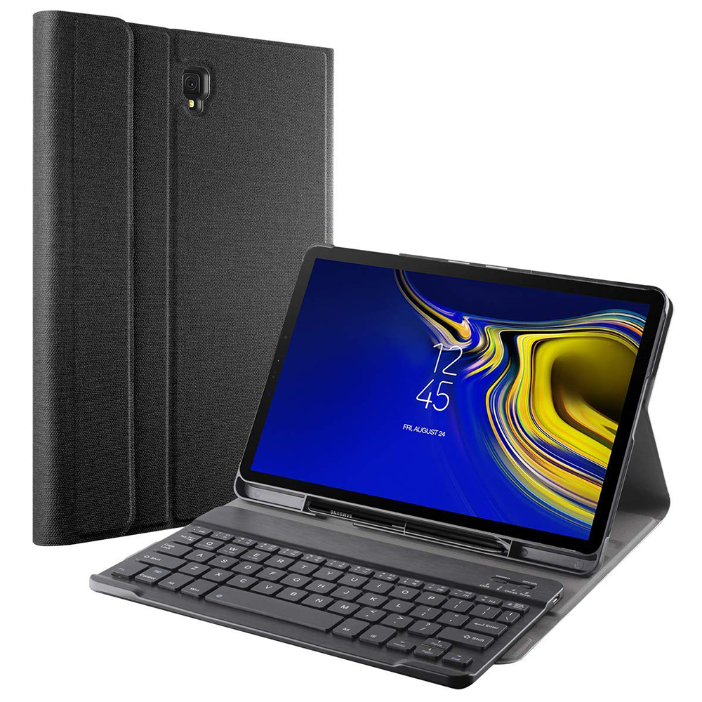 release date 45412 f2c5c Details about Galaxy Tab A 8.0 / Tab S4 10.5 / Tab A 10.5 Free Bluetooth  Keyboard Case Cover