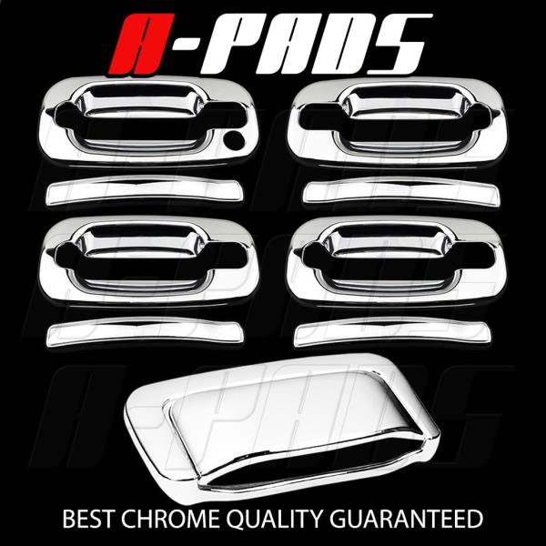 For GMC Yukon//Yukon Xl 2007-2014 Chrome 4 Doors Handle Covers W//Out Passenger Kh