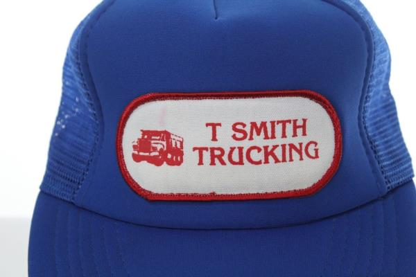b69e6c7cb466b Vintage T Smith Trucking Patch Trucker Hat - Snapback Cap - Blue